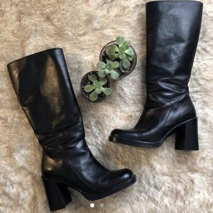 90s chunky black boots